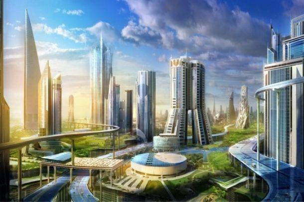 A jövő városa? | City of the future? Forrás/Resource: hdwallpaperia.com