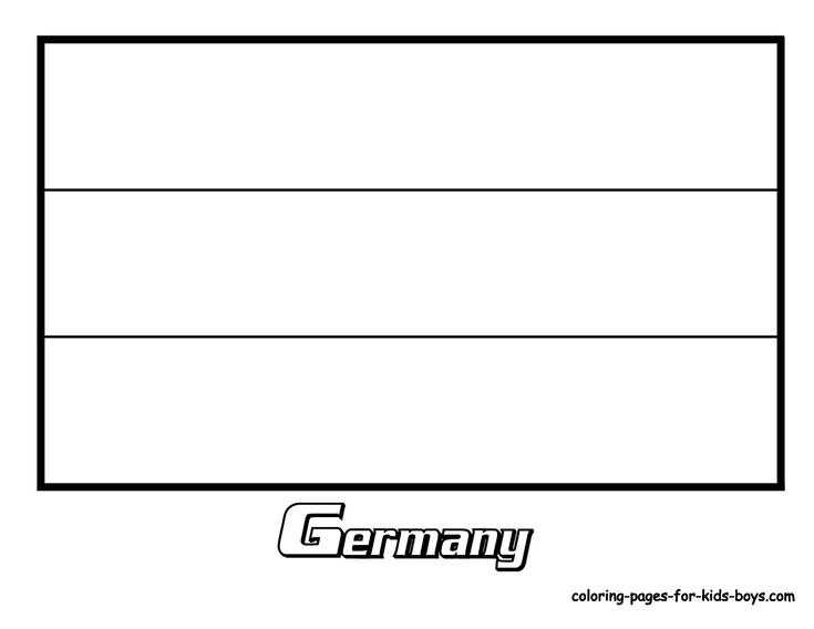 Germany Flag Coloring Pictures