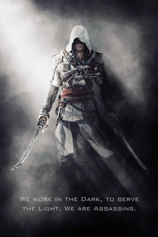 Black Flag Kenway Metal Poster Gab Fernando Displate Assassins Creed Art Assassins Creed Artwork Assassins Creed Black Flag