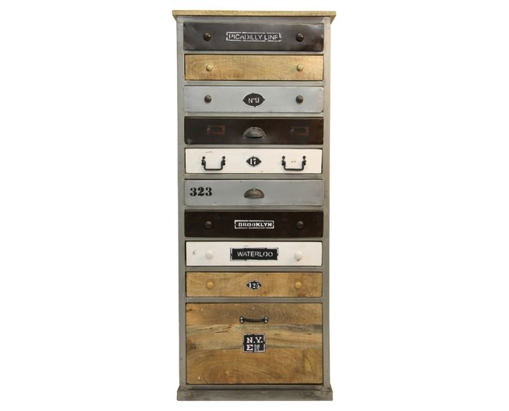 Industrial 10 Drawer Tall Cabinet - Furniture | Weylandts South Africa