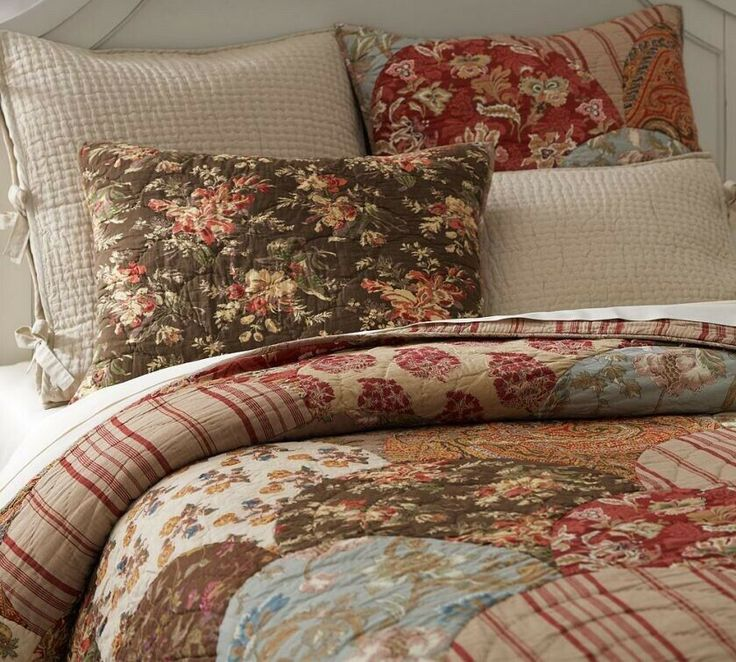 POTTERY BARN GIANNA SCALLOP PATCHWORK KING QUILT + STD ...