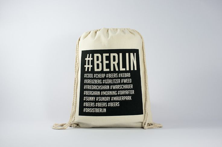 The Berlin's Hashtags - Find it here: http://www.officineberlinesi.com/shop/classic-gymsacks/berlins-hashtags-gymsack/  #backpack #bag #canvasbag #canvastote #beutel #sac #rucksack #mochila #handmade #sacfourre-tout #screenprinting #taschen  #berlin #funny #beers #music #nightlife