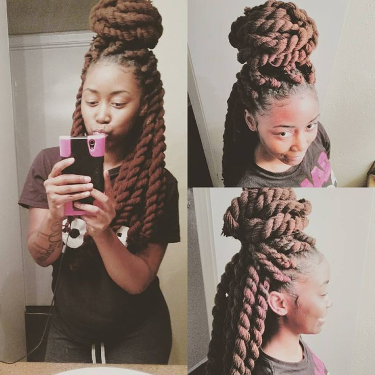 Jumbo Yarn Twists I Did Myself (Gina Hilson