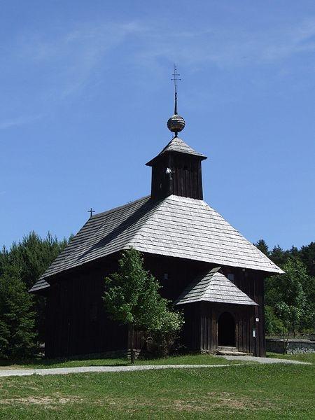 Múzeum slovenskej dediny - Martin, Slovakia. Wooden church from Rudno