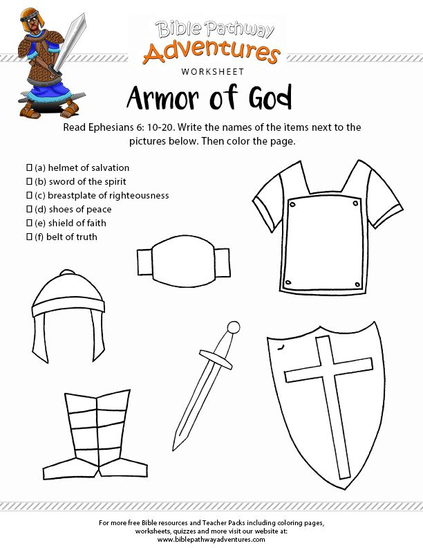 Juicy image regarding armor of god printable activities