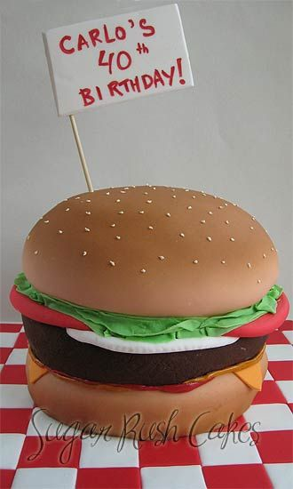 1000+ images about Hamburger Cakes on Pinterest Cakes ...