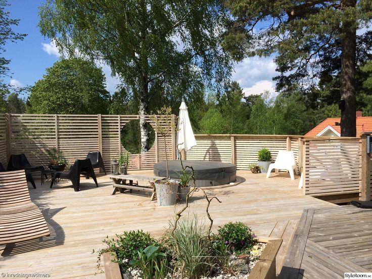 altan, terass, uteplats, garden, patio, different width in fence