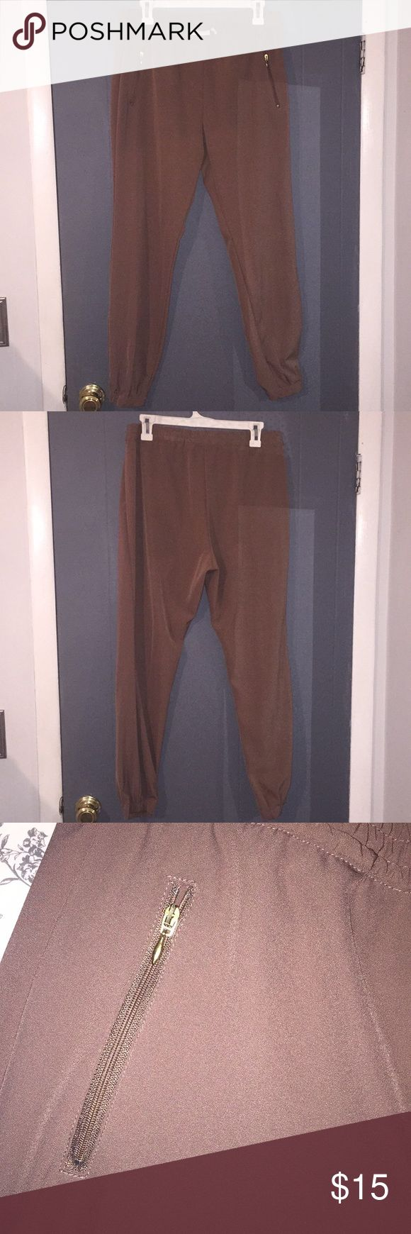 H&M Brown Joggers Barely worn, great condition! H&M Pants Track Pants & Joggers