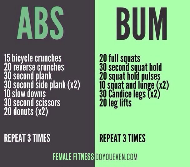 Abs and bum workout