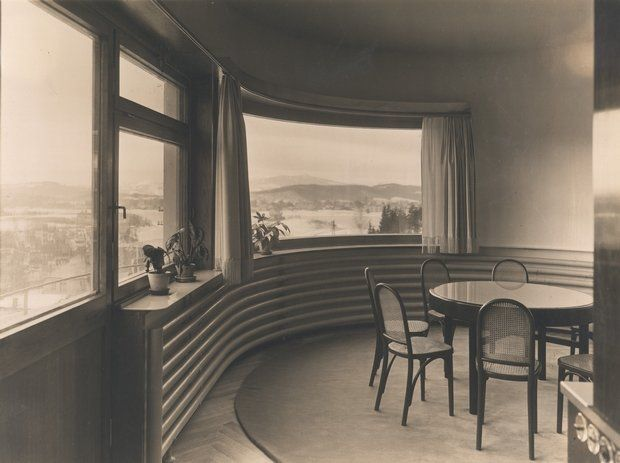 Heinrich Lauterbach: Willa Jaroslava Haska - wnetrze jadalni, Jablonec, Czechy, 1930-1931