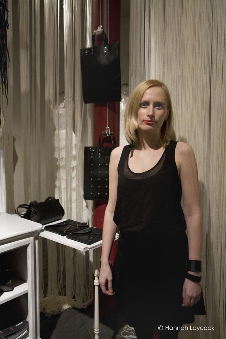 Winner of the International Fashion Showcase 2013 by British Council and British Fashion Council. Creative Director Helen Sirp. Leather accessories designer Kadri Kruus. Photo Credit Hannah Laycock.
