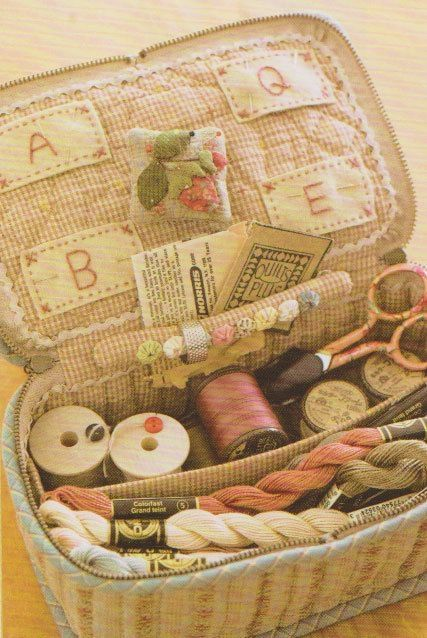 Book Cover Sewing Kit : How to make tutorial sewing kit case bag needle book