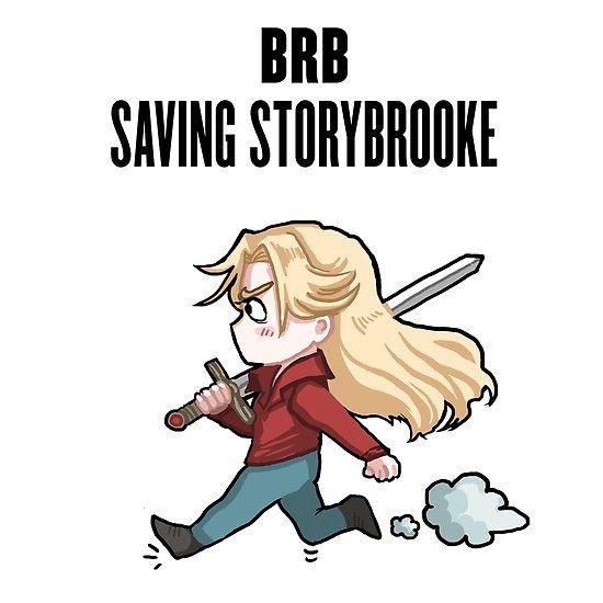 BRB - saving Storybrooke by PompeiiAblaze on Redbubble <3