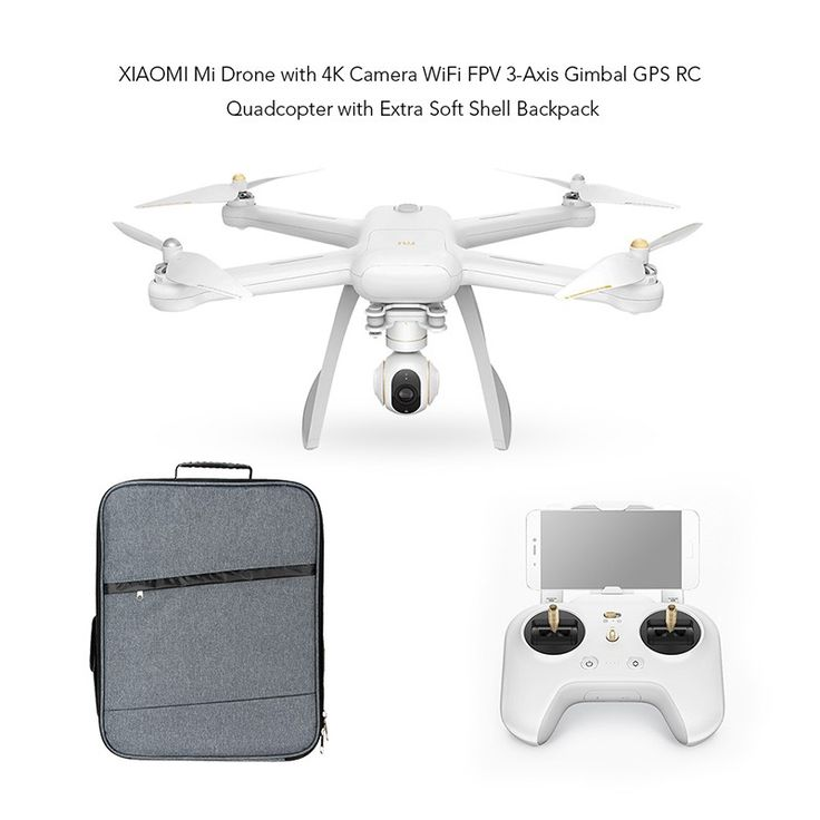 Drona profesionala XIAOMI, 4K, WiFi, FPV, GPS, plus geanta