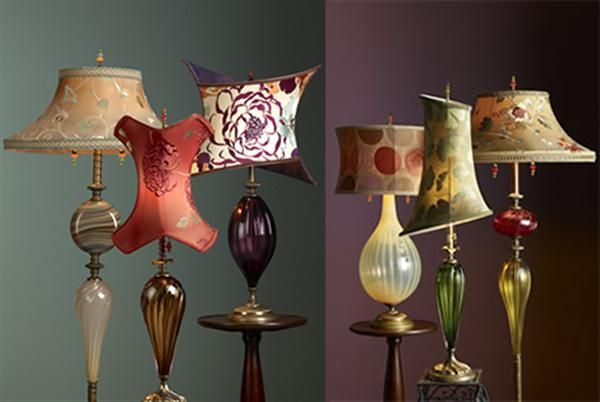 Modern and Artistic Table Lamps Decorating Ideas Set