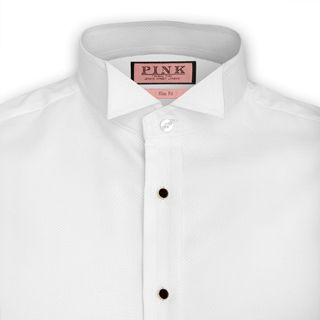 Marcella Wing Collar Evening Shirt - Double Cuff