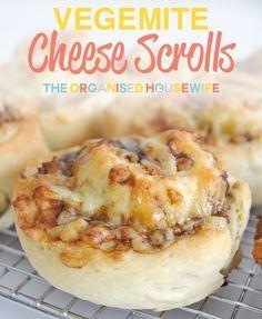 Cheese and Vegemite Scrolls