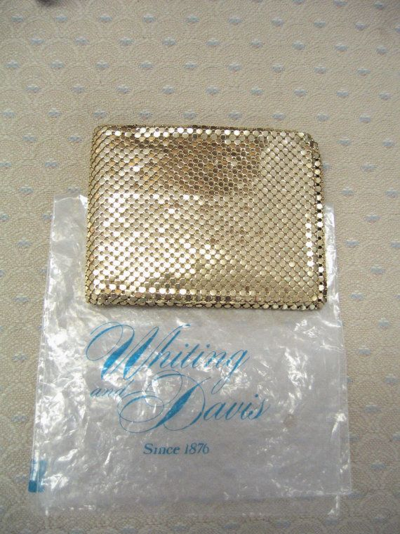 1950's Whiting & Davis Gold Mesh Wallet by EclecticCollectibles