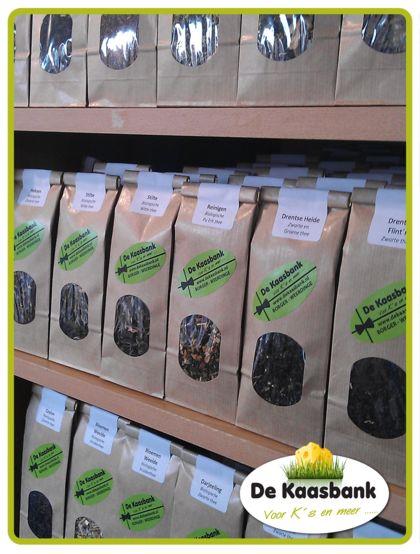 Nu ook losse thee bij de Kaasbank Weerdinge (Emmen)