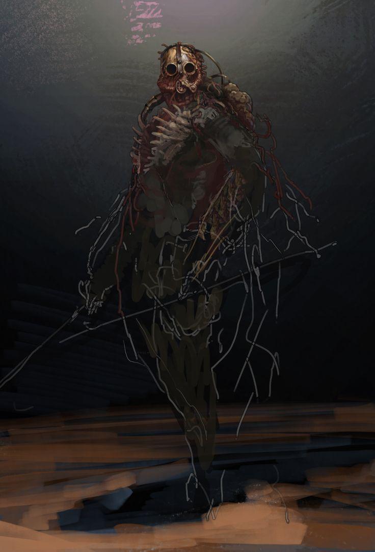 ArtStation - practice of zombies drawing, Dmitry Petishov
