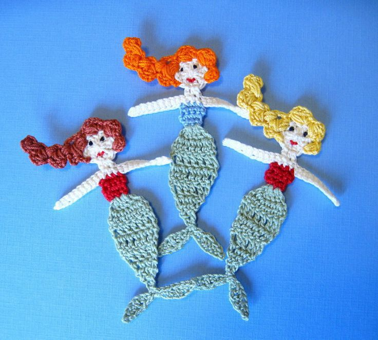 Mermaid+Crochet+Applique