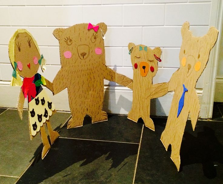 Really BIG paper dolls Goldilocks and the three bears