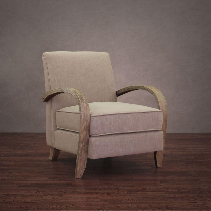 Best Bloomington Beige Linen Arm Chair By I Love Living 400 x 300