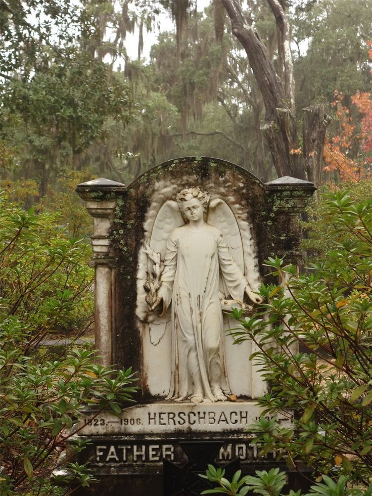 Another beautiful grave monument in Bonaventure cemetery