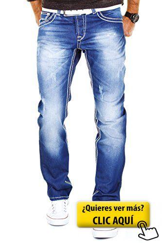 MERISH Vaqueros para Hombre Pantalones Straight... #pantalones