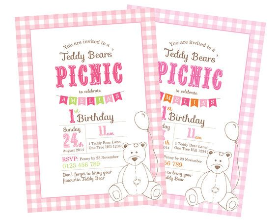 73 best images about Teddy Bear Picnic Party – Picnic Party Invitations