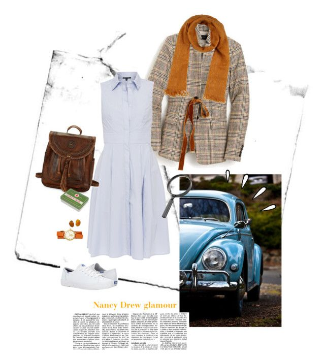 """Nancy Drew Costume"" by ninasinclair ❤ liked on Polyvore featuring J.Crew, Xander, Keds, Patricia Nash, Tory Burch, Camerucci and Old Navy"