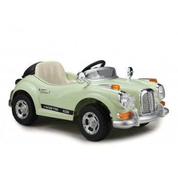 Classic Vintage Cream Ride On 12v Electric Car with Parental Remote Control