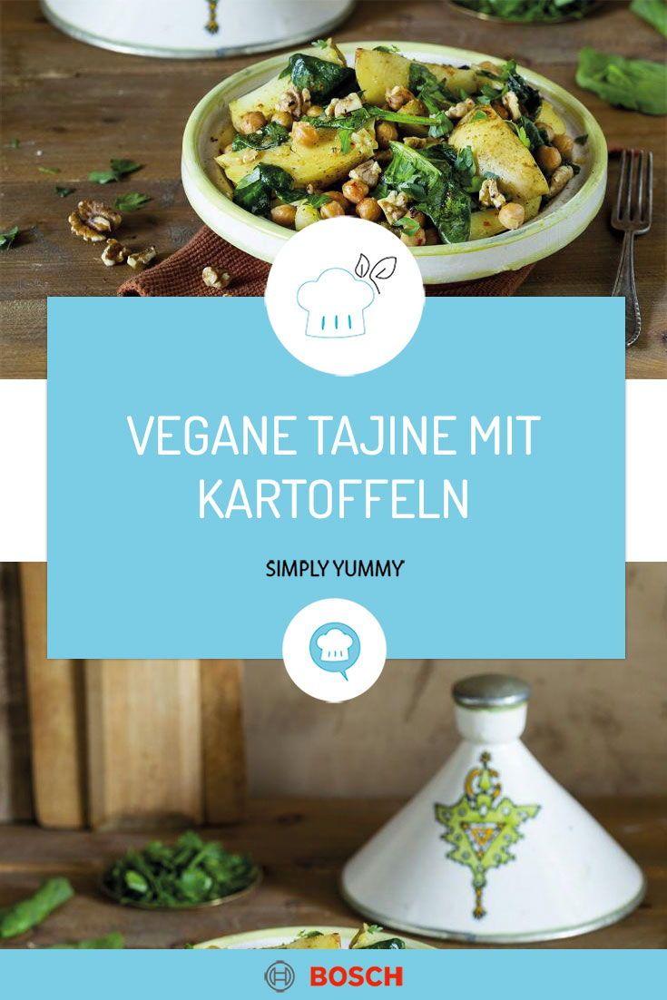 Tajine Mit Kartoffeln Spinat Und Walnussen In 2020 Tajine Rezepte Rezepte Einfache Gerichte