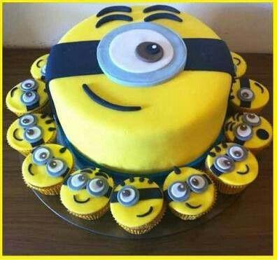 Minions Torta y cupcakes. Dulce y bonita ❤ Pedidos 931511730 - Comas-Lima,Perú
