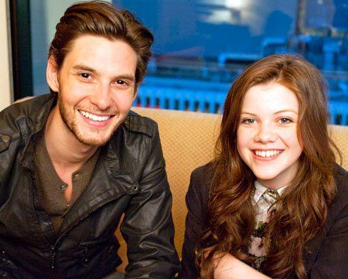 Ben Barnes and Georgie Henley