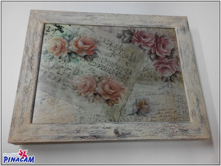 Marco decorado con decoupage - Manualidades cajas madera ...