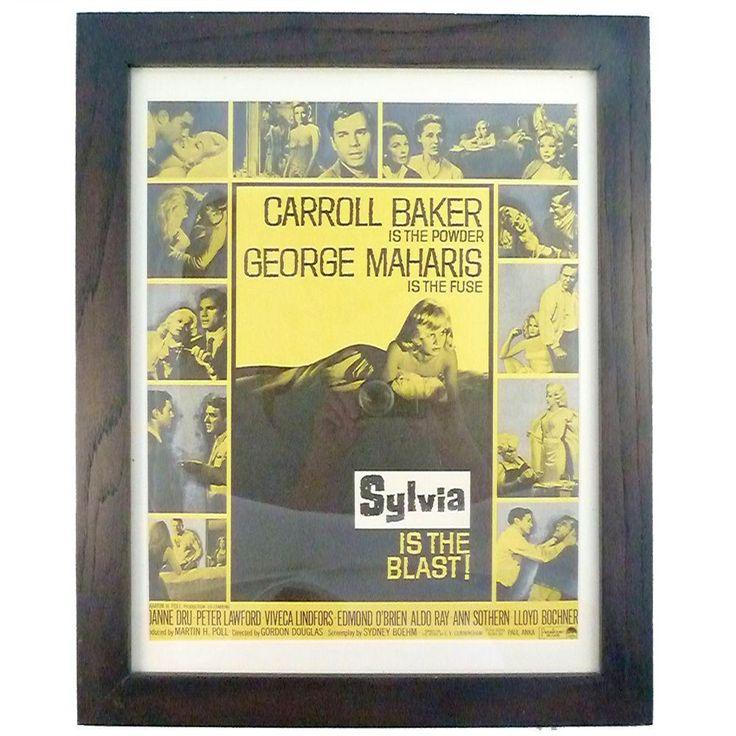 "1965 ""Sylvia"" Movie Poster on Chairish.com"