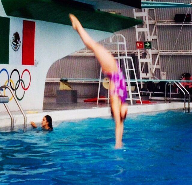 Así entrena la clavadista Alejandra Orozco en el Comité Olímpico Mexicano.                                Foto: marianae