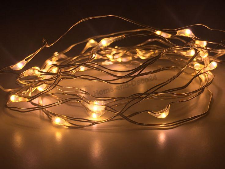 5 X 10er LED Drahtlichterkette Weihnachts Lichterkette Microdraht Inkl  Batterien In Möbel U0026 Wohnen, Feste