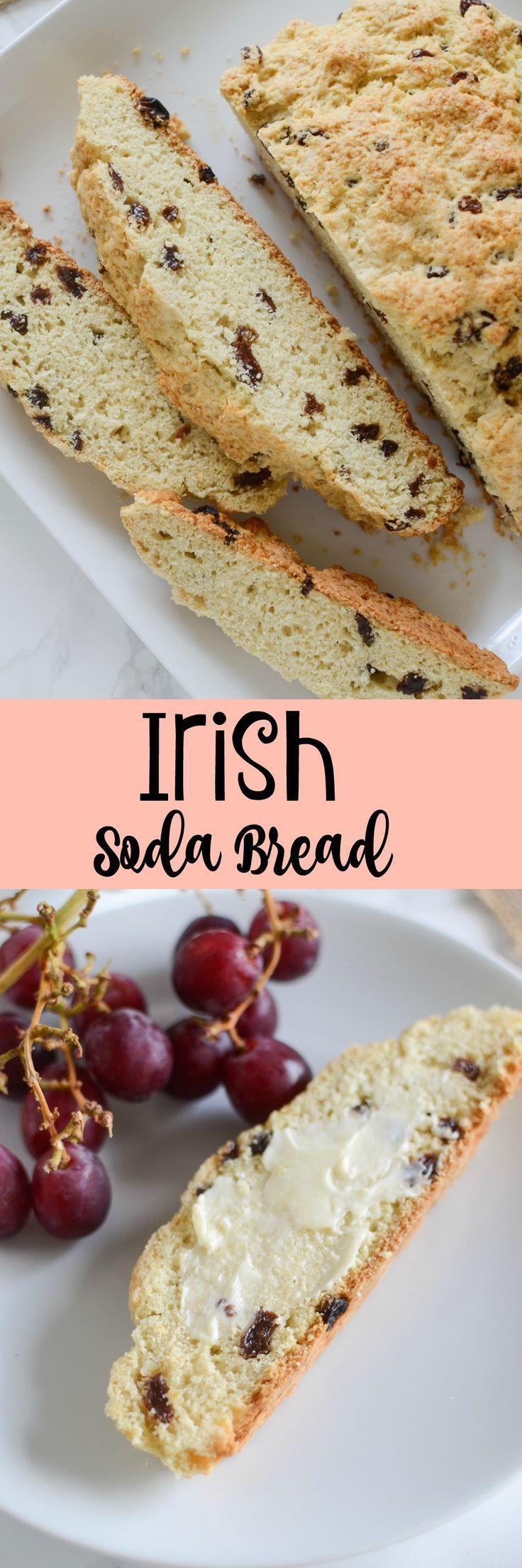 Classic Irish Soda Bread recipe - easy quick bread studded with raisins. This bread will become a St. Patrick's Day tradition!