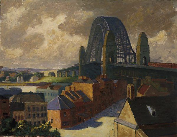 The bridge, (1958) by Roland Wakelin :: The Collection :: Art Gallery NSW