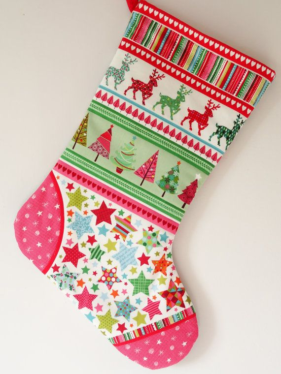 Scandinavian Christmas stocking Scandi Christmas by SarahSewsIt