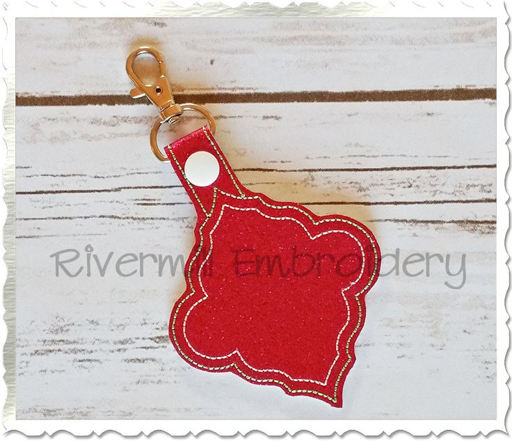 $0.00Free Blank Frame In The Hoop Snap Tab Key Fob Machine Embroidery Design