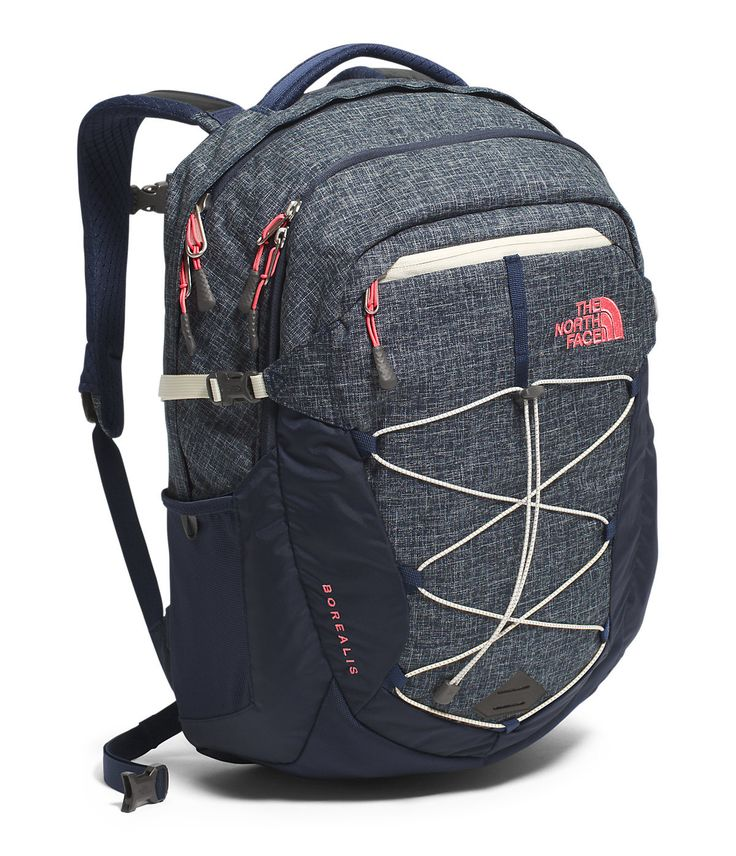 The North Face Womens Borealis Backpack - Cosmic Blue Heather/ Calypso  Coral - Backpacks &