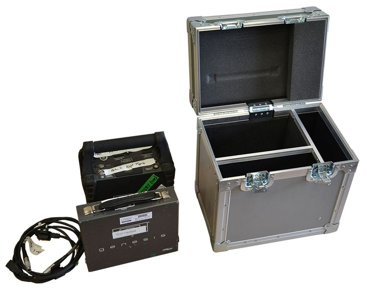 Case for Anton Bauer VCLX Camera Battery, Charger and space for cables. Manufactured using 6mm grey plywood for base and 6mm green plywood for hinged lid from Best Flight Cases