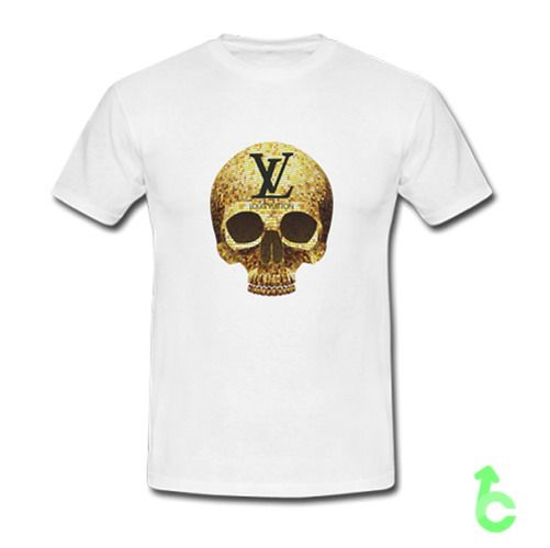 Golden Skull Louis Vuitton T-Shirt