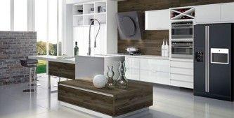 cozinhas planejadas Dell Ano branca e preta