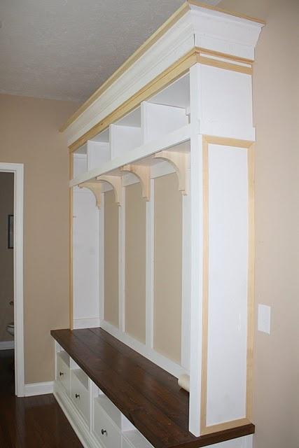 Mudroom Entryway Diy Storage Bench Unit With Ikea Tv Stand