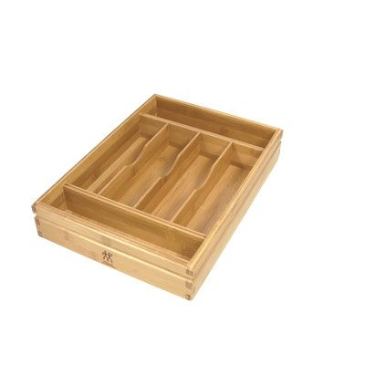 $21 - Zwilling JA Henckels Bamboo Flatware Storage Tray & Reviews | Wayfair
