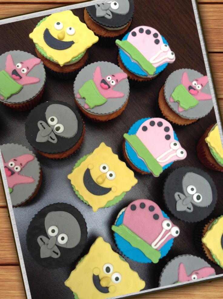 Cupcakes sponge bob